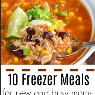 Freezer Meals for New Moms and Tips