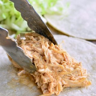 Crock Pot Creamy Pulled Chicken Tacos