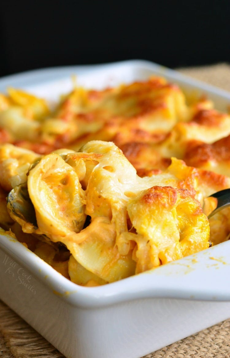 Spicy Three Cheese Pumpkin Tortellini Bake - Will Cook For ...