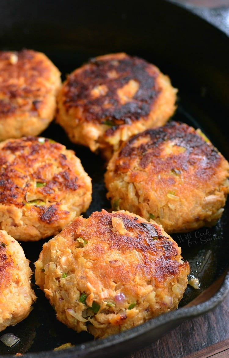Teriyaki Rice and Salmon Patties. from willcookforsmiles.com