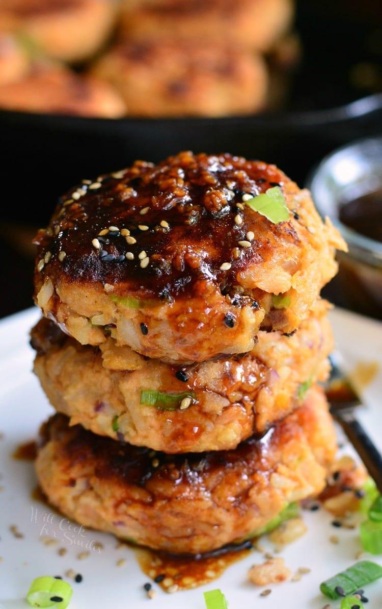 Teriyaki Rice and Salmon Patties. from willcookforsmiles.com