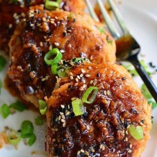Teriyaki Rice and Salmon Patties