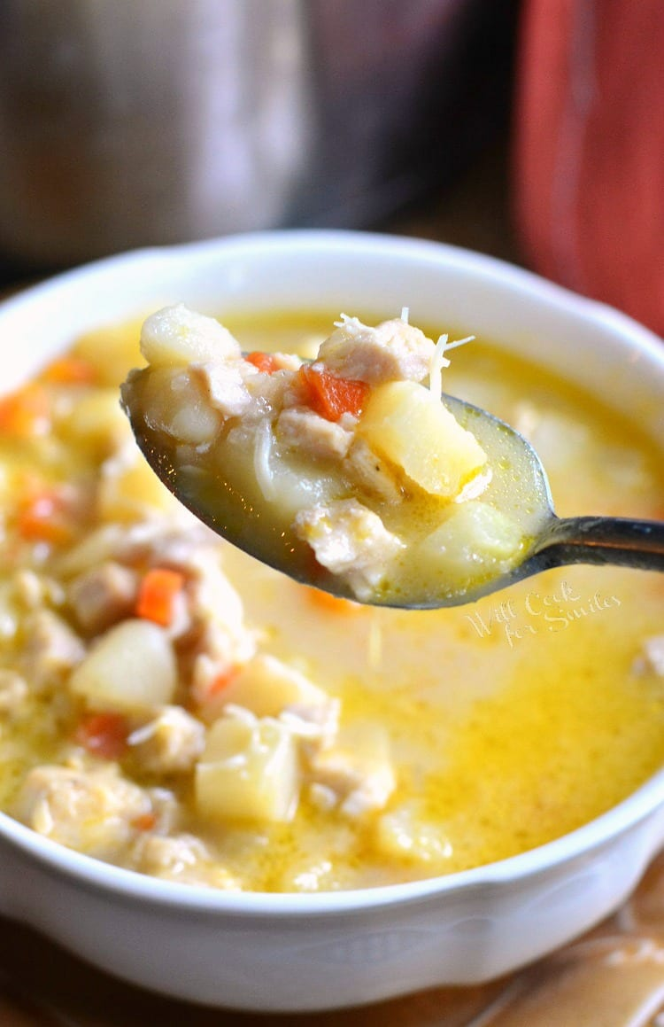 Creamy, Chunky Turkey Potato Soup. from willcookforsmiles.com