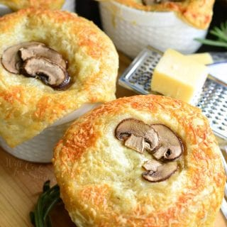 Individual Creamy Chicken and Mushroom Pot Pies