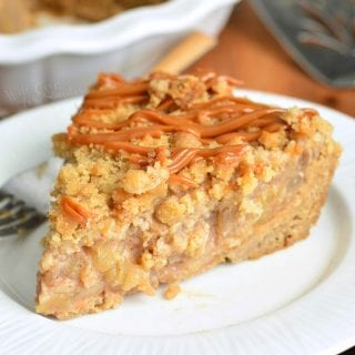 Caramel Apple Pie with Cookie Crust
