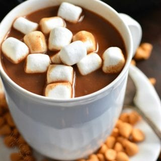 Slow Cooker Butterscotch Hot Chocolate
