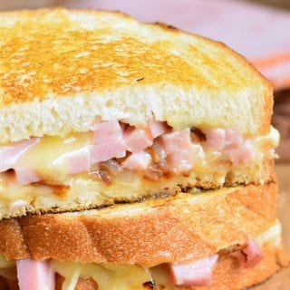 Ham and Brie Grilled Cheese Sandwich