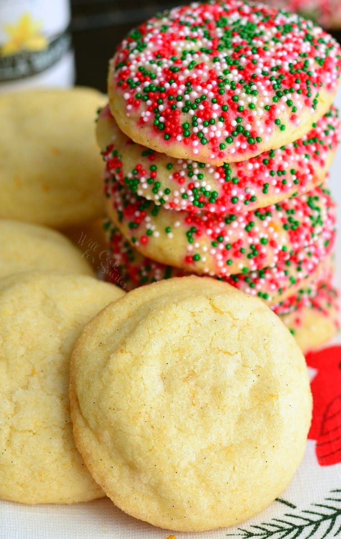 Vanilla Bean Orange Zest Sugar Cookies - Will Cook For Smiles