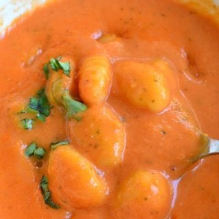 Homemade Tomato Soup with Gnocchi