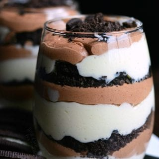 Oreo Double Chocolate Mousse Parfaits