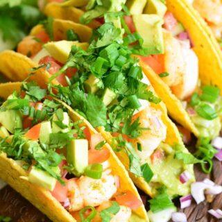 Guacamole Shrimp Tacos