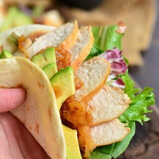 Sweet and Spicy Tequila Chicken Tacos