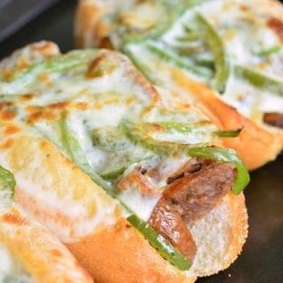 "Philly Cheese ""Steak"" Sausage Hoagies"