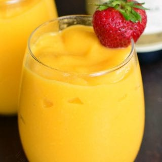 3 Ingredient Mango Champagne Slushies