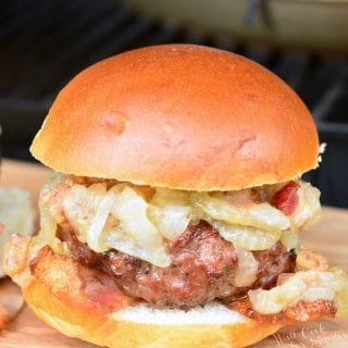 Bacon Burger Sliders with Bacon Caramelized Onions