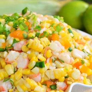 Cilantro Lime Shrimp Corn Salad