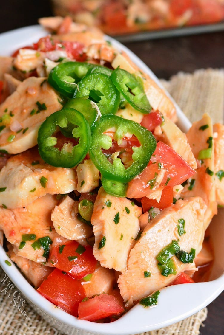 Spicy Mexican Chicken Salad in a bowl