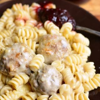 Swedish Meatballs Pasta Casserole