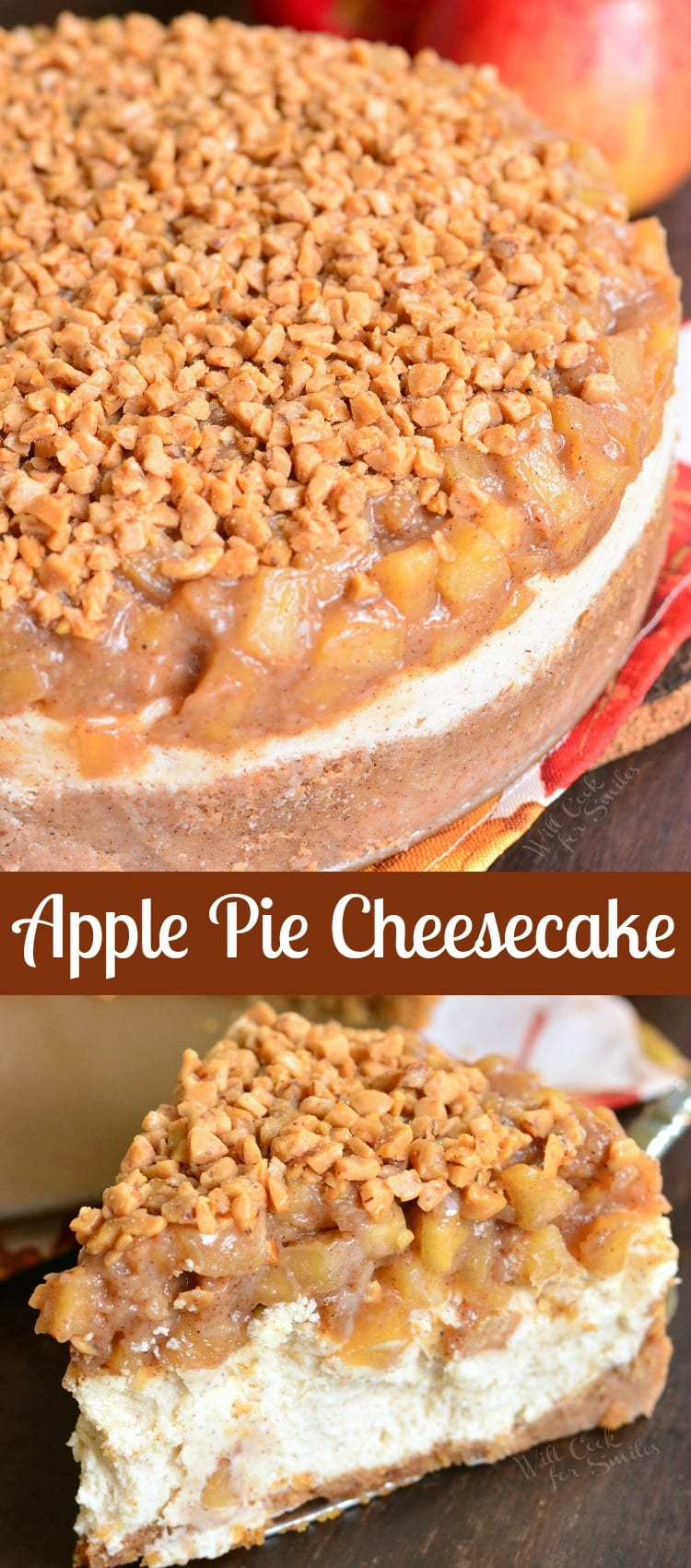 Apple Pie Cheesecake collage