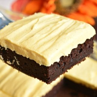 Frosted Pumpkin Brownies