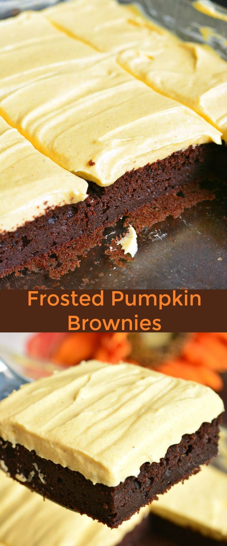 Frosted Pumpkin Brownie collage