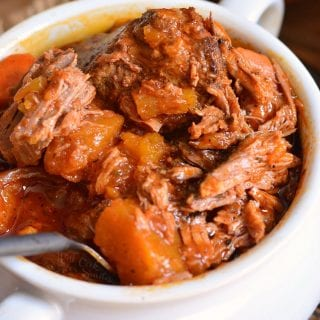 Crock Pot Roast with Pumpkin