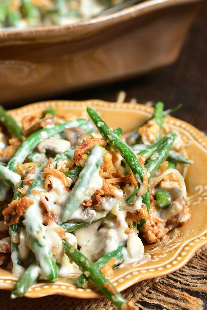 Green Bean Casserole on a plate