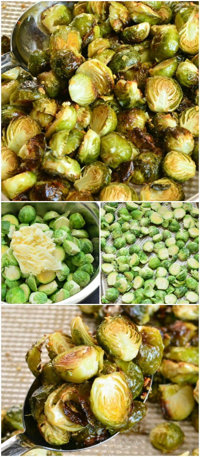 Roasted Brussels Sprouts with Garlic Butter collage
