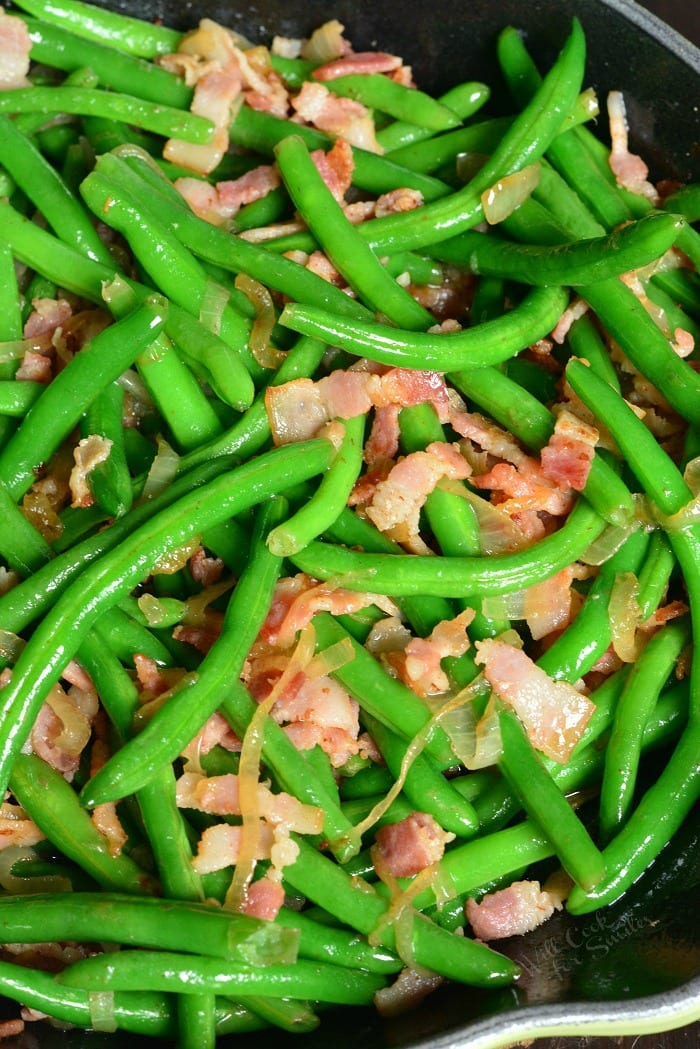 Green Beans with Bacon and Onions - Will Cook For Smiles
