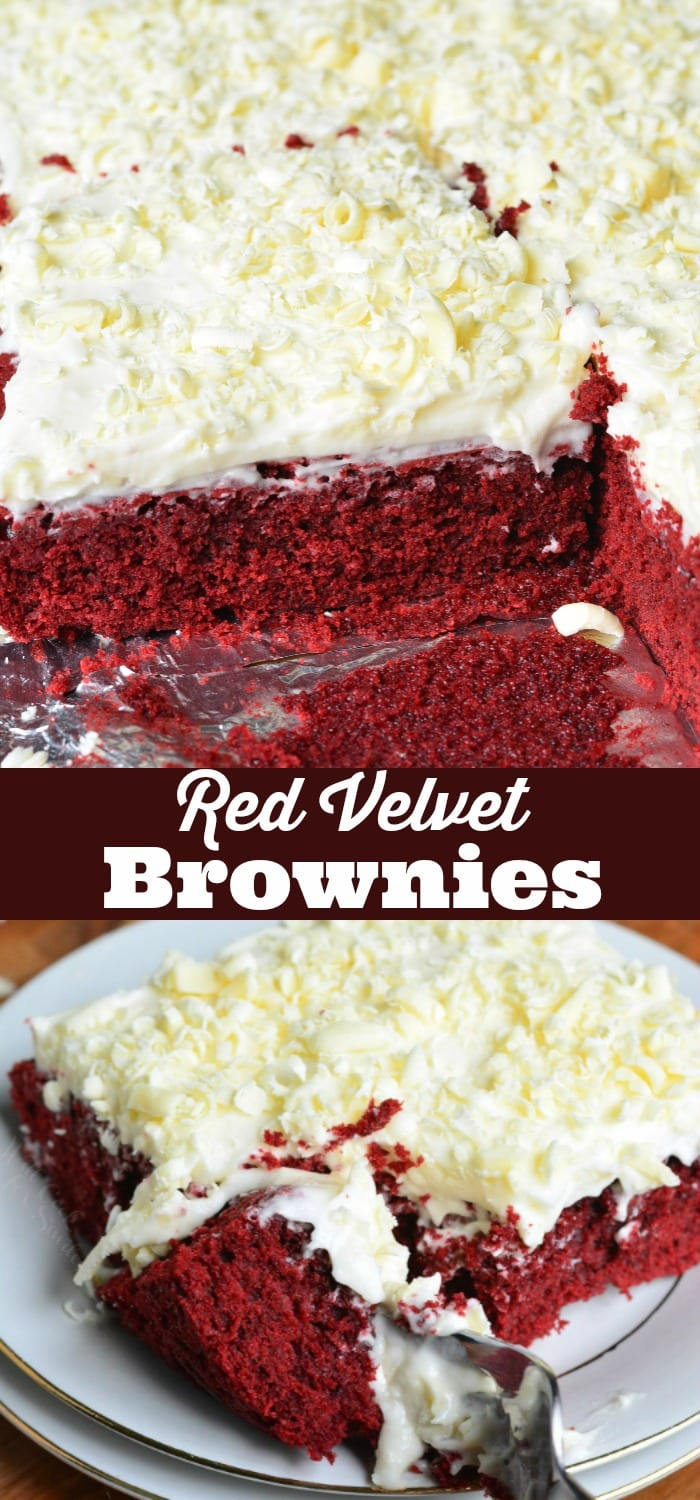 Red Velvet Brownies collage