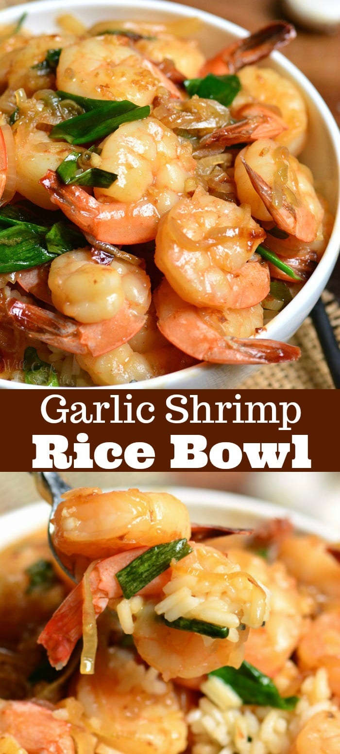Garlic Shrimp Rice Bowl college