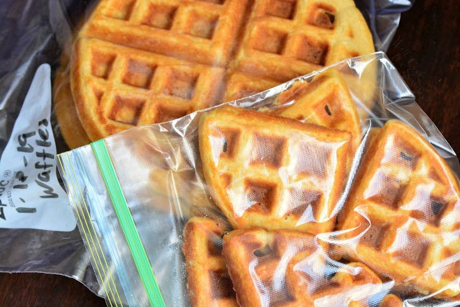 How to freeze homemade waffles