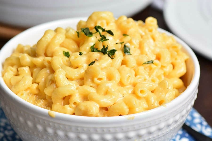 Stovetop Mac and Cheese Recipe in a bowl
