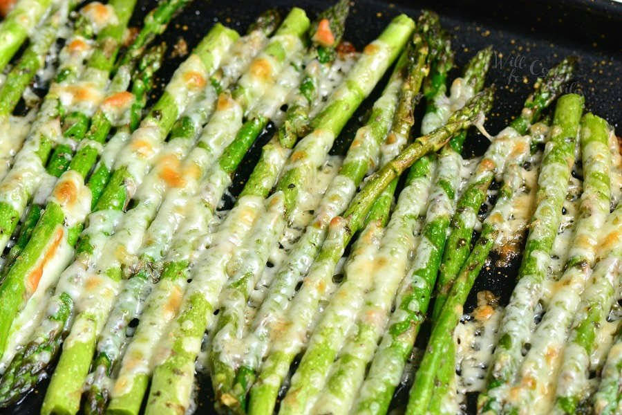 Roasted Asparagus is a simple side dish that will be ready in less than 20 minutes. It's made with addition of Italian flavors like oregano, parsley, and Parmesan cheese.