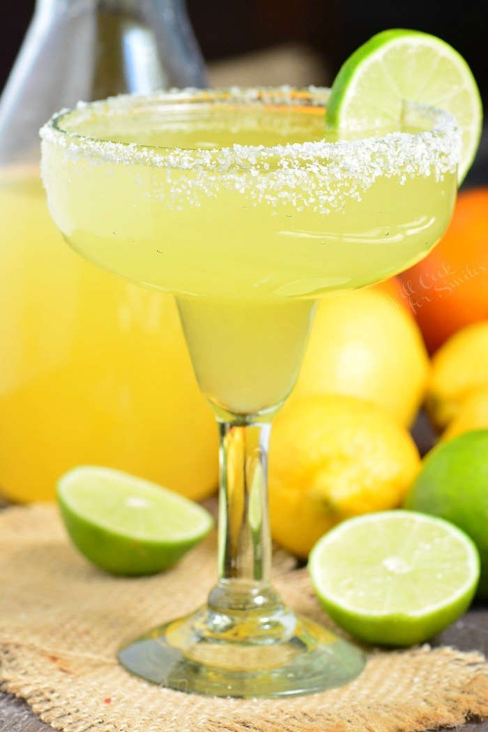 The Best Margarita Recipe. It's a simple mixture of homemade sweet and sour mix, tequila, and orange liqueur. #margarita #drink #cocktail #tequila #margaritamix