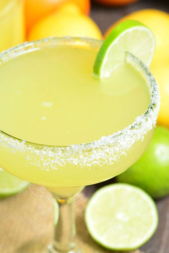 The Best Margarita Recipe made with a simple mixture of homemade margarita mix, tequila, and orange liqueur. Refreshing cocktail that can be made ahead of time.