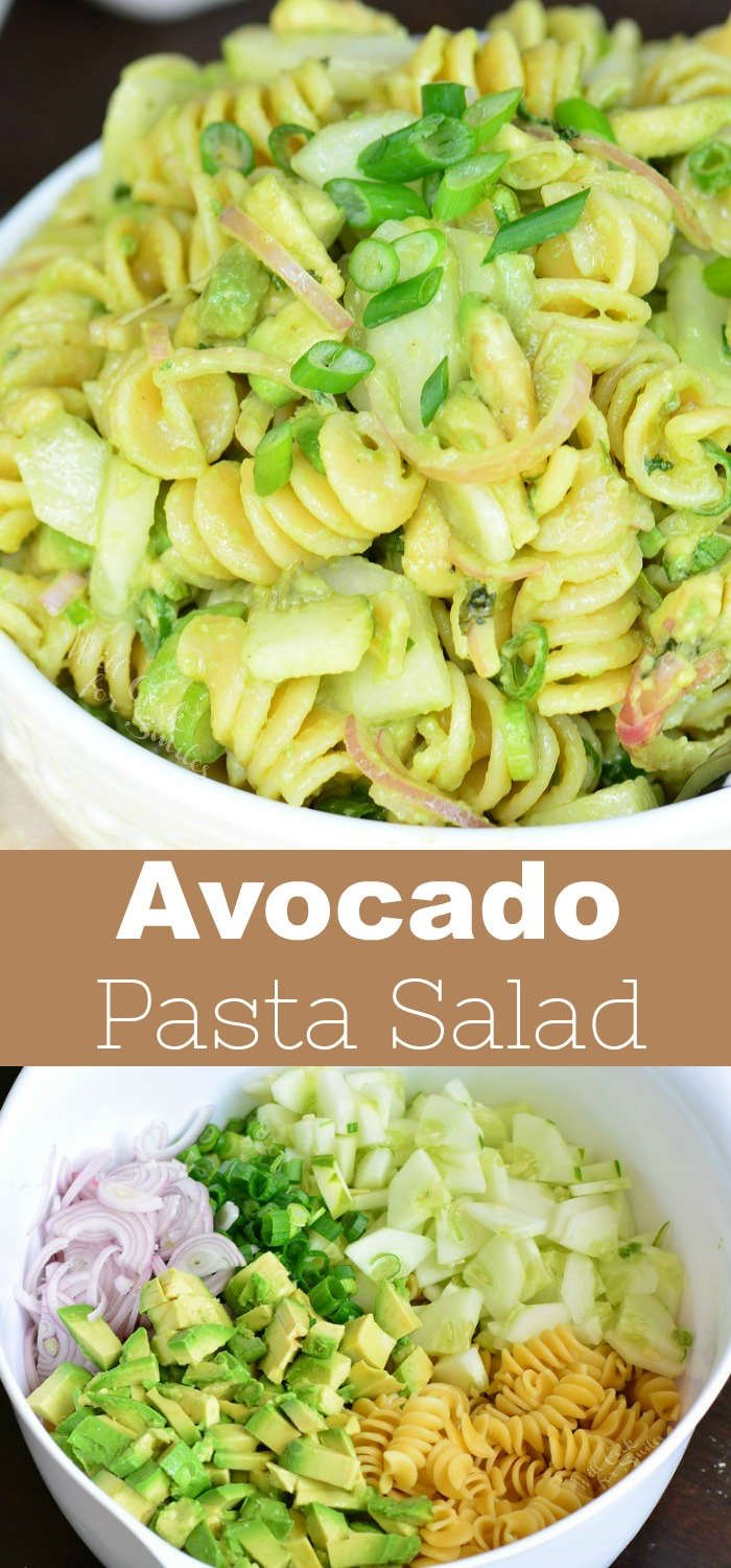 Avocado and Cucumber Pasta salad recipe