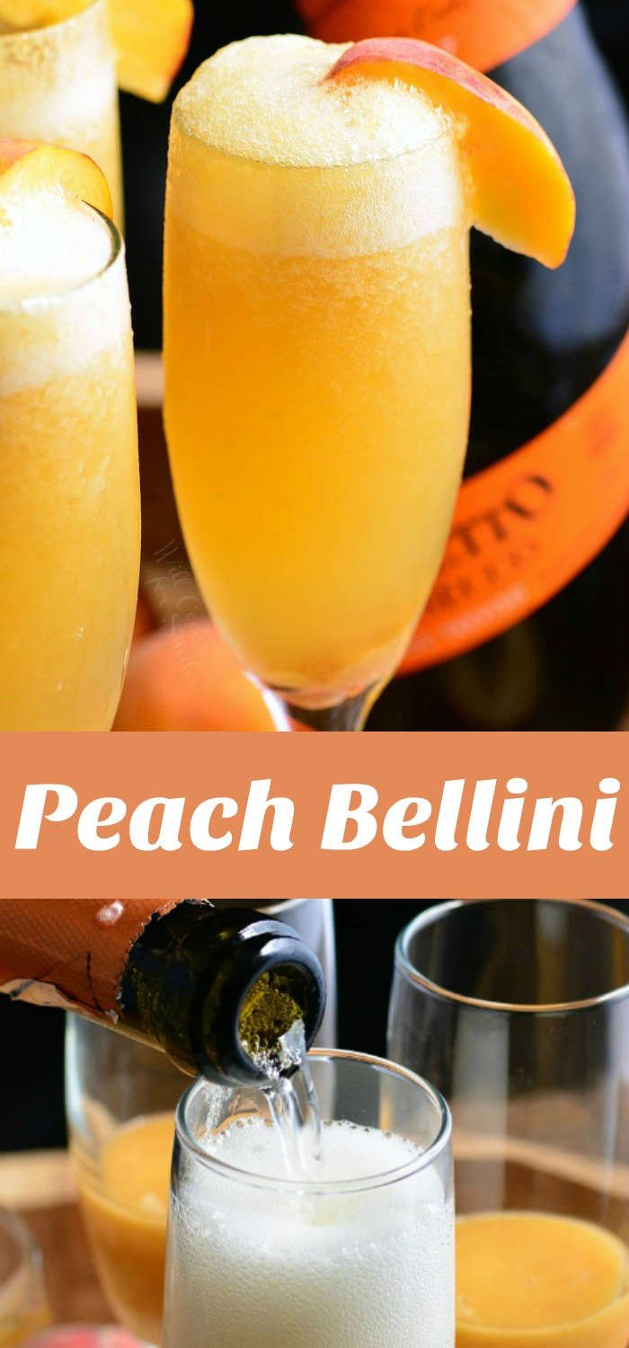 peach Bellini photo collage