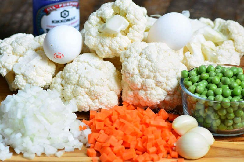What goes into cauliflower fried rice