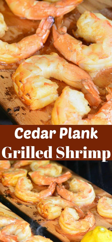 Cedar Plank Grilled Shrimp collage