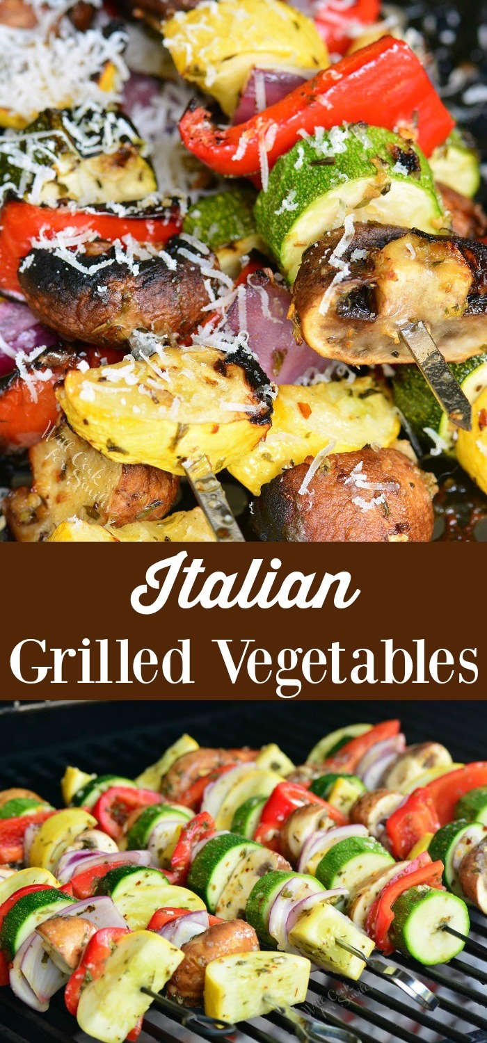 Italian Grilled Vegetables collage