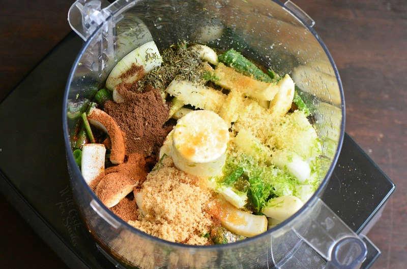 Jerk Marinade Ingredients in a food processor