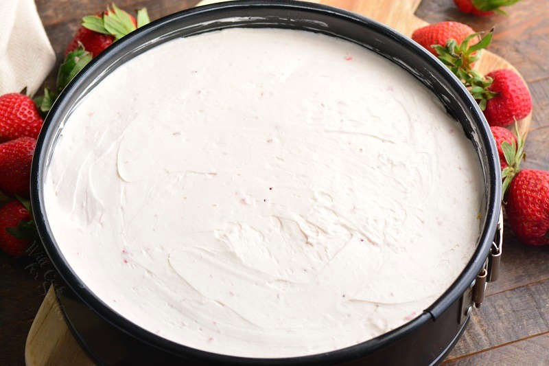 How to make no bake cheesecake with strawberries