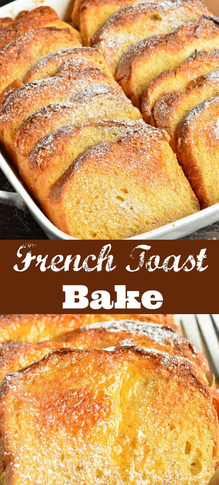 french toast bake collage