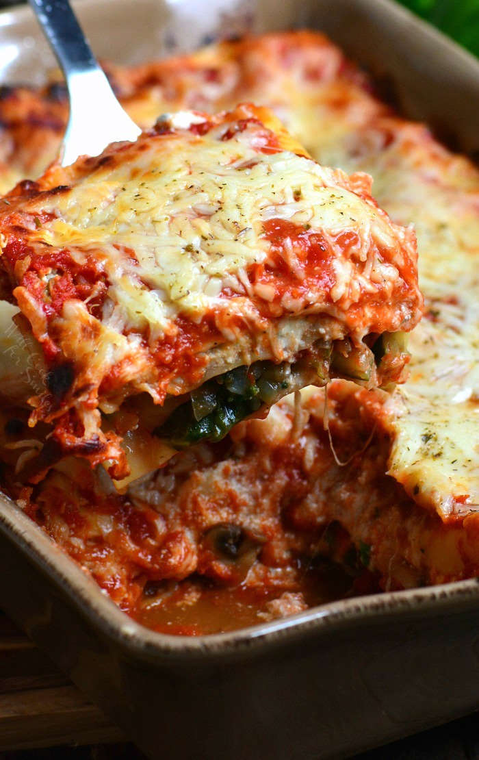 Vegetable Lasagna Recipe with zucchini