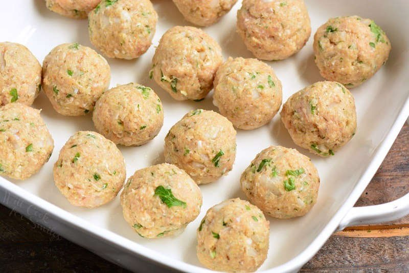 how to bake chicken meatballs