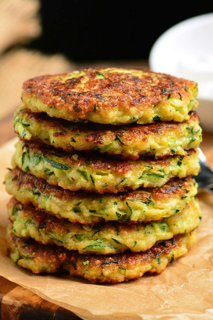 zucchini fritters stack