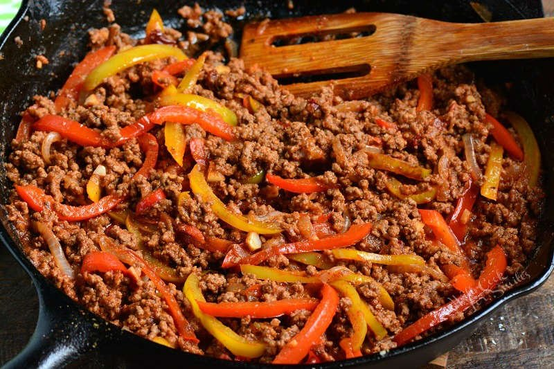 ground beef and peppers