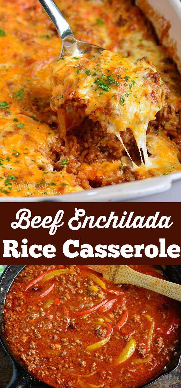 rice casserole collage