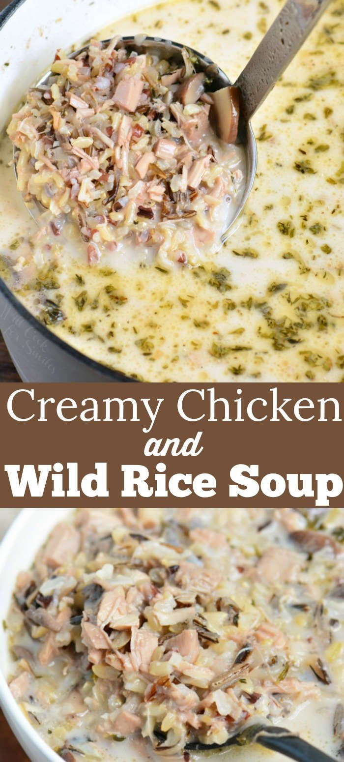 chicken and wild rice recipe collage